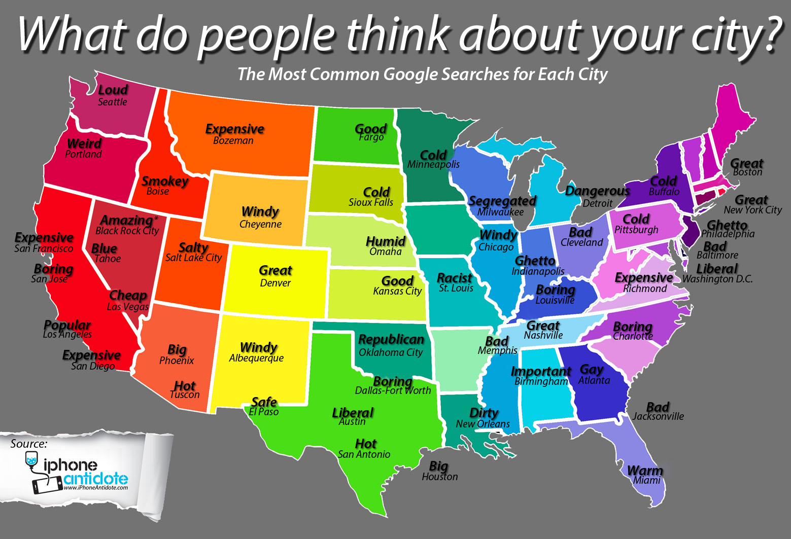 Google autocomplete cities map infographic the iphone for Interesting facts of usa