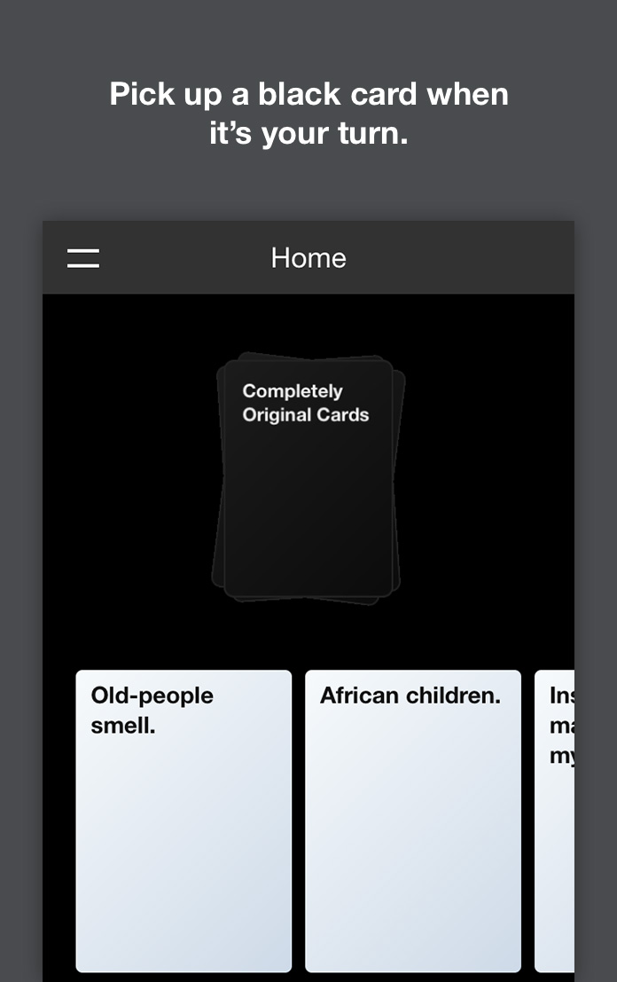Play Cards Against Humanity Online The Iphone Antidote Blog